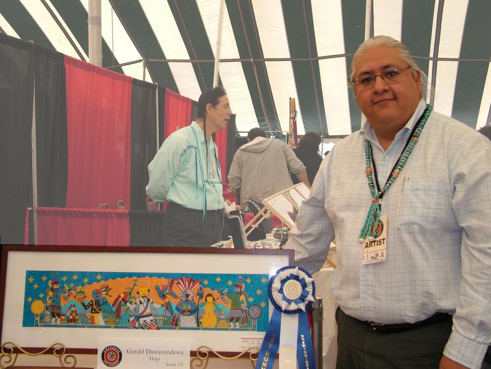 G Dawavendewa at the Cherokee Art Market