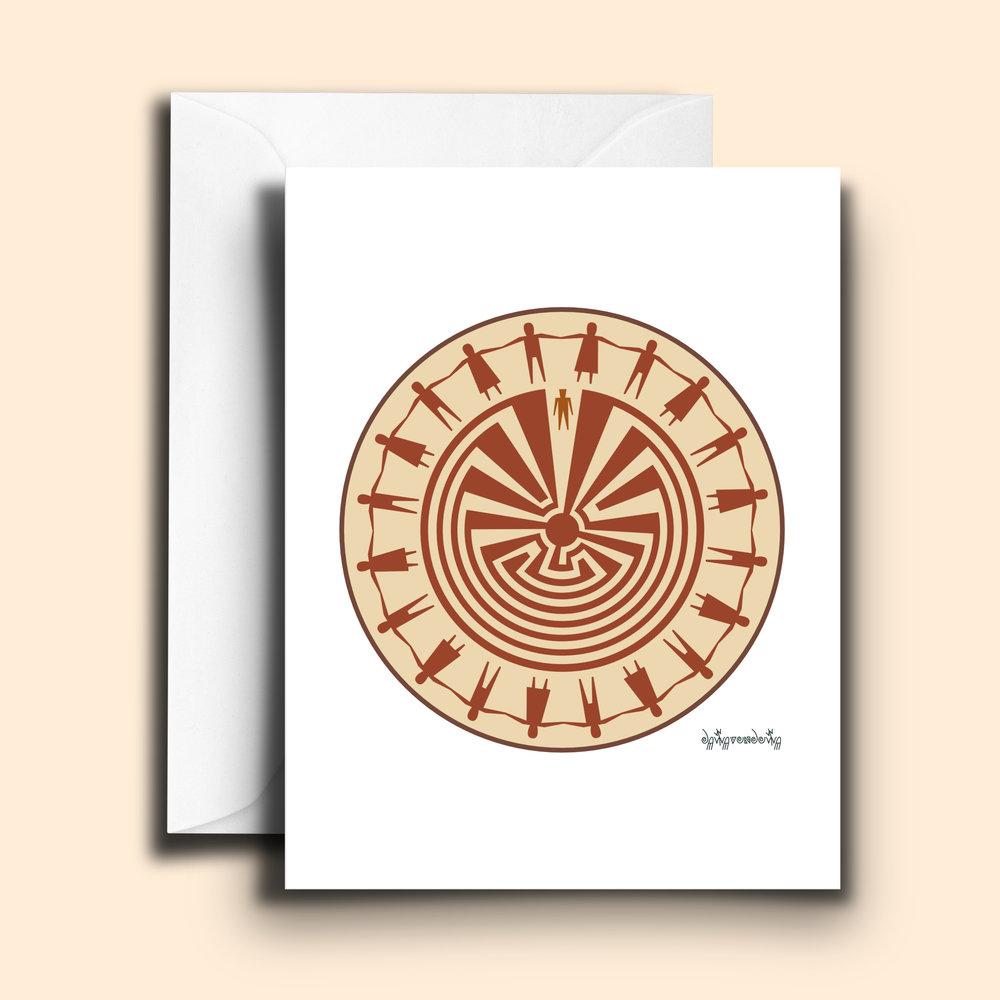 Iitoi Ki Maze Of Life With Friendship Ceremony Note Card