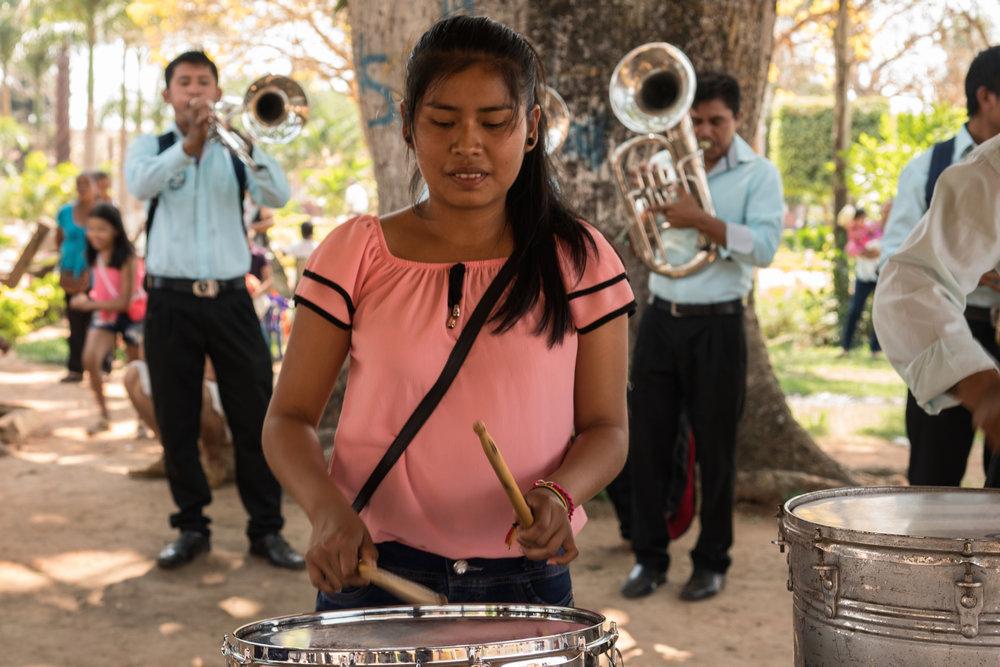 Jóvenes músicos de Concepción. Fotos: Juanita Escobar