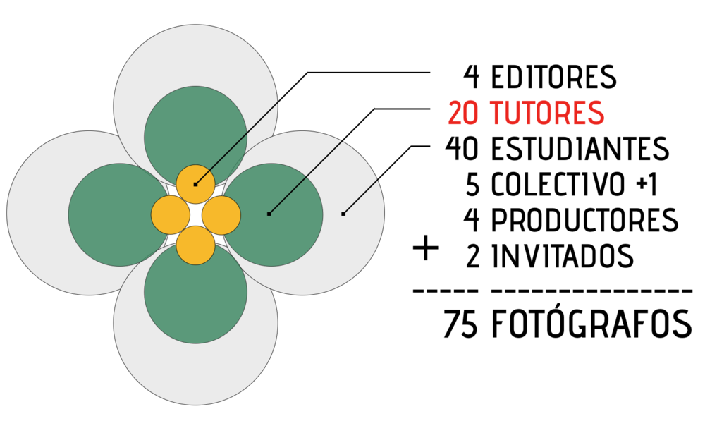 Estructura de los equipos que conformarán 20Fotógrafos Bolivia.