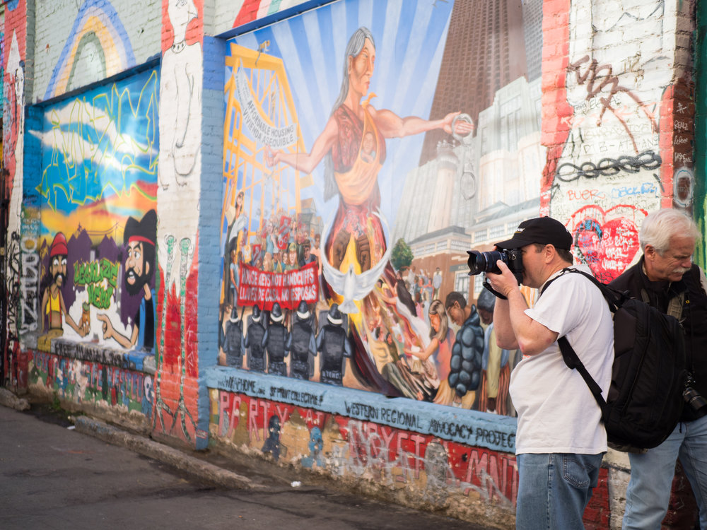 Alex and Jay shooting in Graffiti Alley