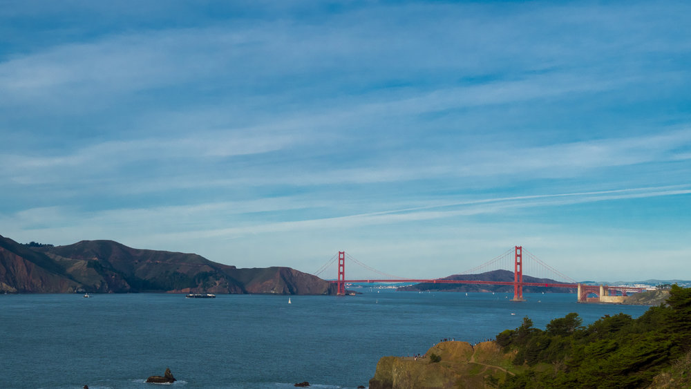 The beautiful Golden Gate Bridge!