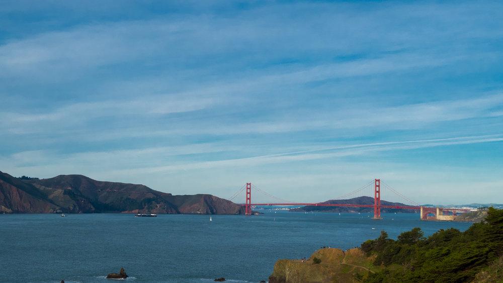 The beautiful Golden Gate Bridge!