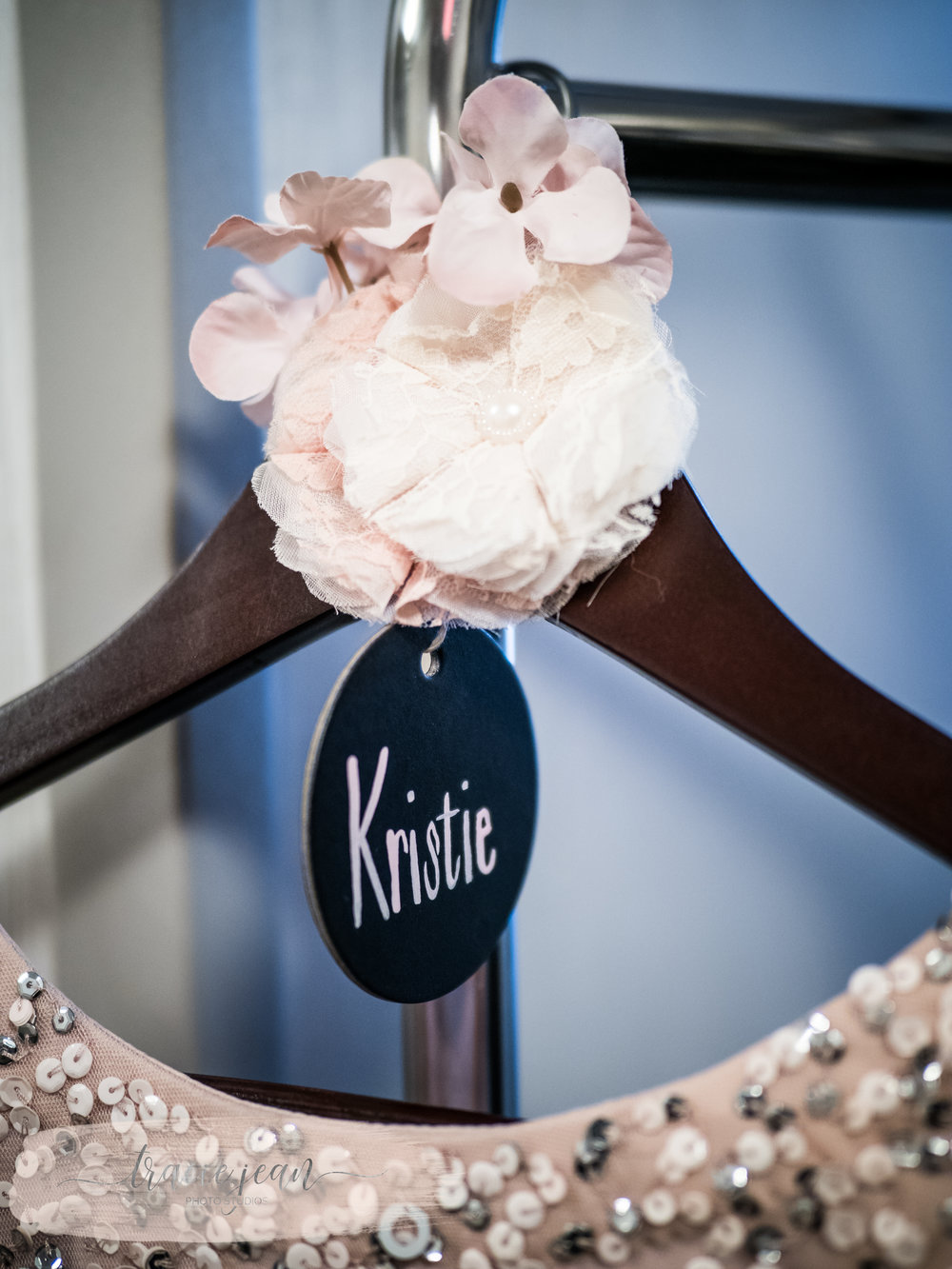 Bridesmaids Names on Each Hanger