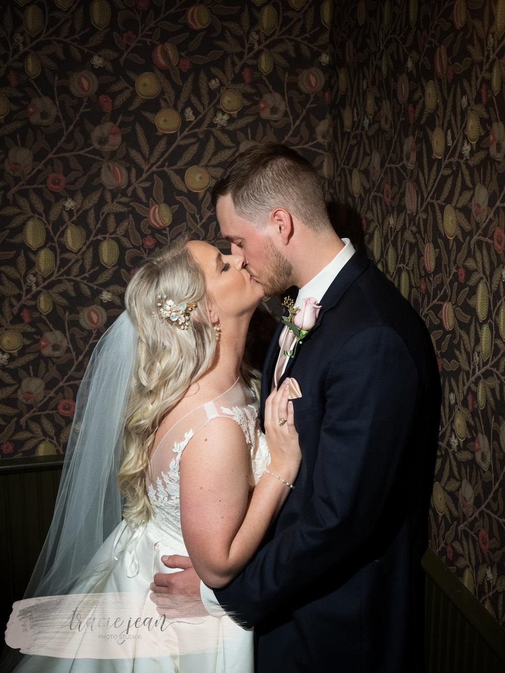 Husband & Wife Kiss Close
