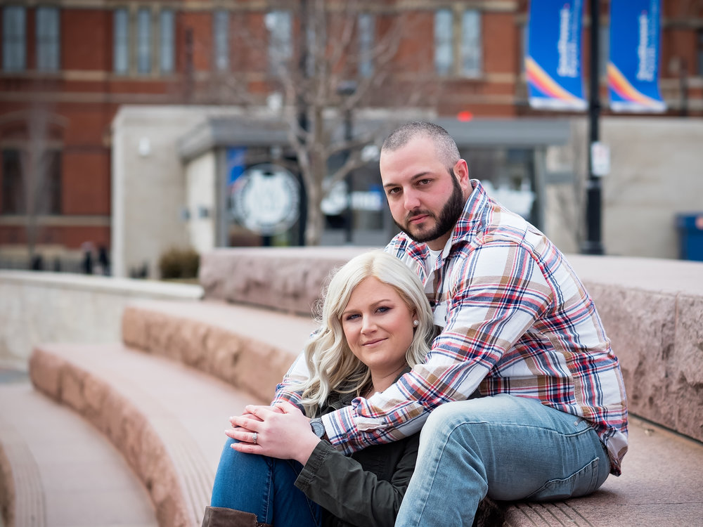 Such a sweet couple :) Good thing the fountains were off!