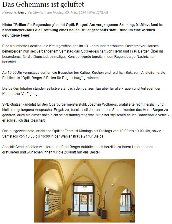News aus den Regensburger Nachrichten