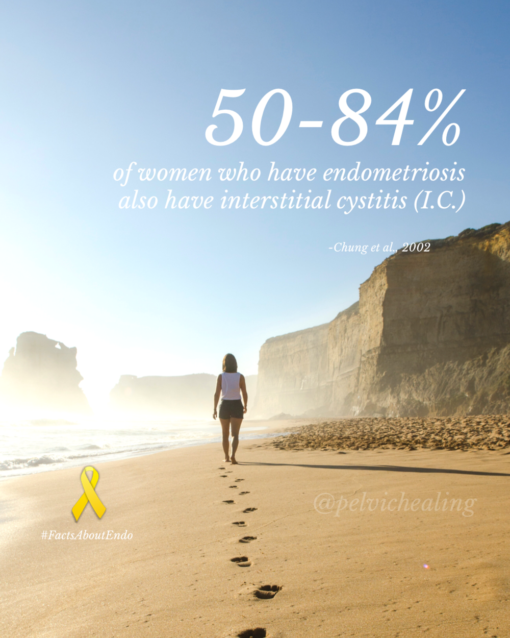 50-84% of women who have endometriosis also have interstitial cystitis (IC)