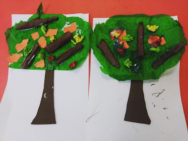 Working on our motor skills, and with different mediums and textures in our #art class.