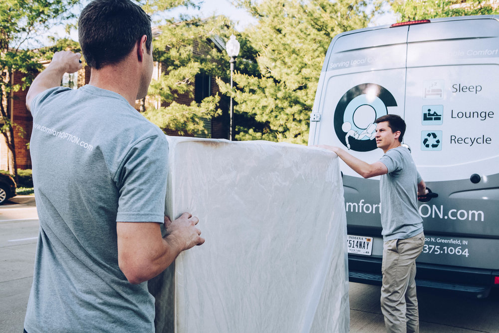 Free Mattress Recycling - With each mattress purchase, we will also remove and recycle any unwanted mattresses you may have in your home. Curious about the recycling process? Feel free to visit our recycling partner's website to learn more.