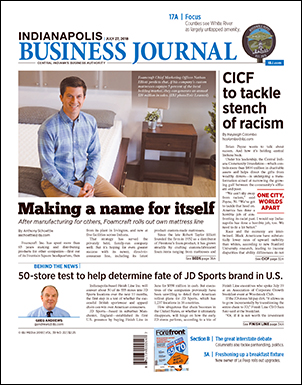 Comfort Option, Foamcraft, and the story of our customized mattress program, featured as the cover story on the Indianapolis Business Journal.