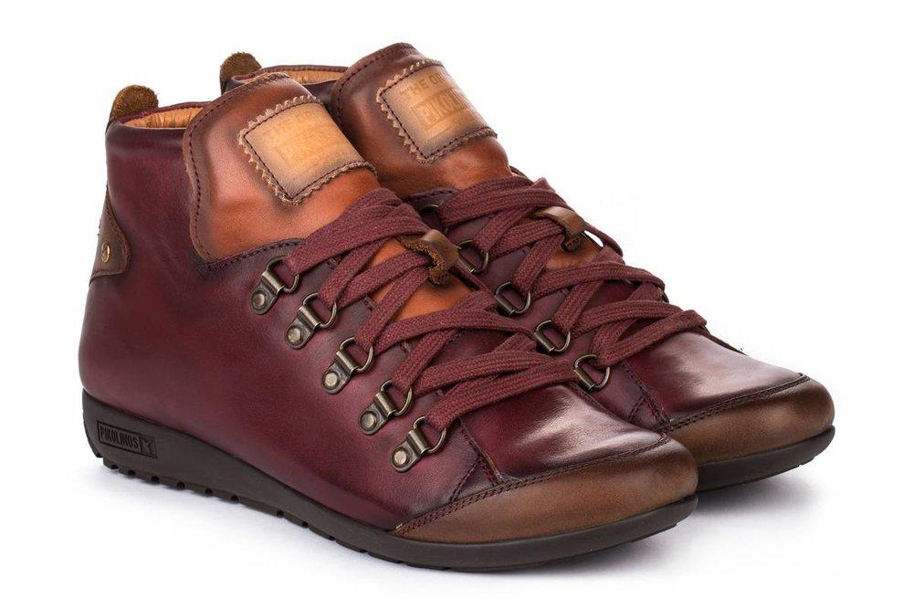 Pikolinos Lisboa Lace Boot-Garnet Red(PC: pikolinos.com)