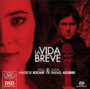 LA VIDA BREVE ( play on Spotify )   This album, which has been highly praised by international critics, is a musical voyage with French-Swiss cellist Nadège Rochat, exploring Spain and South America. The guitar gives a very special tone addition to a singing and vibrant cello.