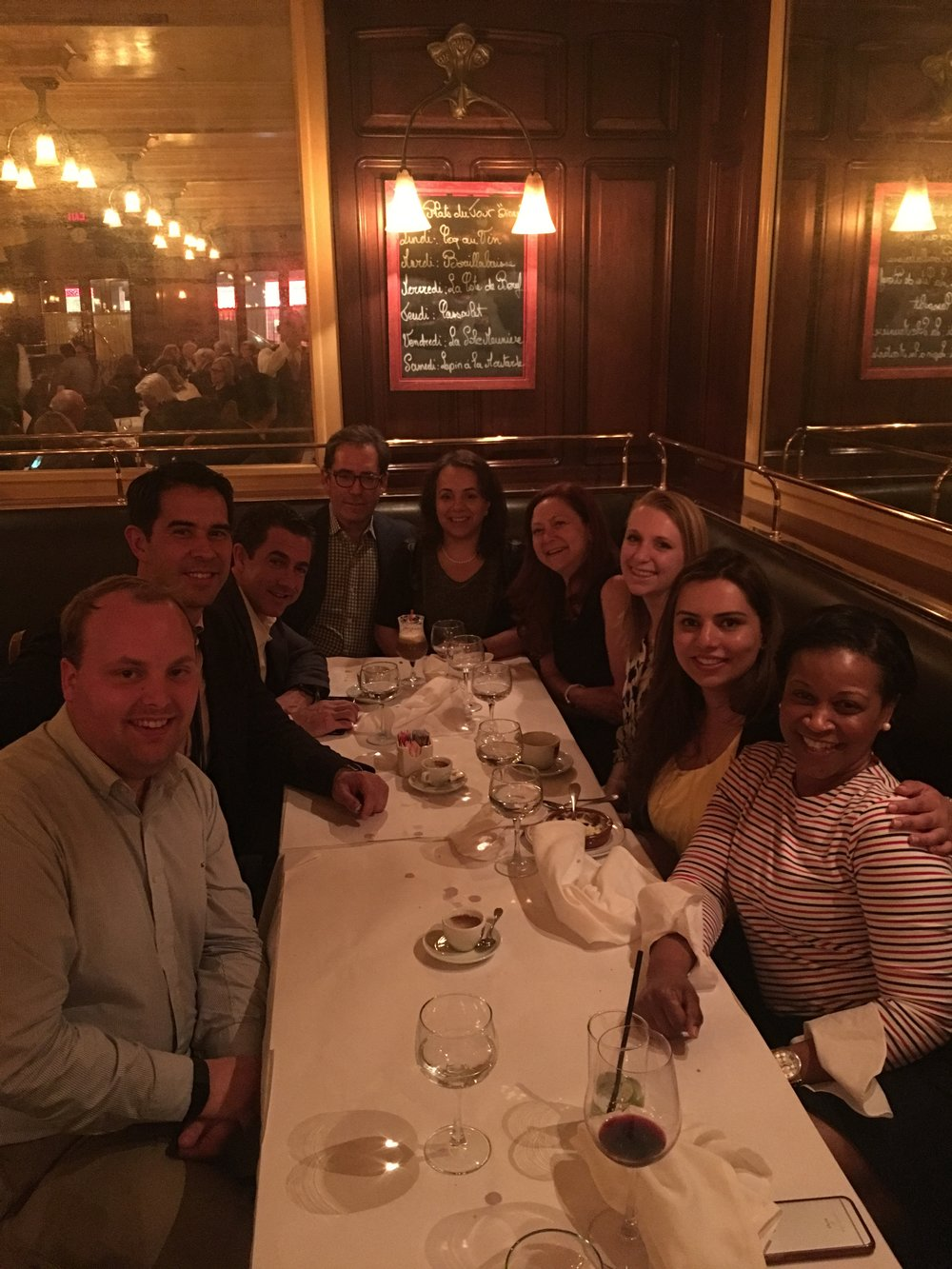 Dinner with collaborators from Lenox Hill Hospital