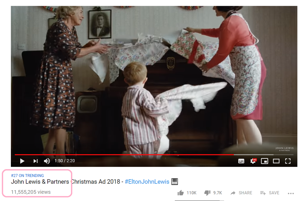 Image Credit: John Lewis Youtube Official