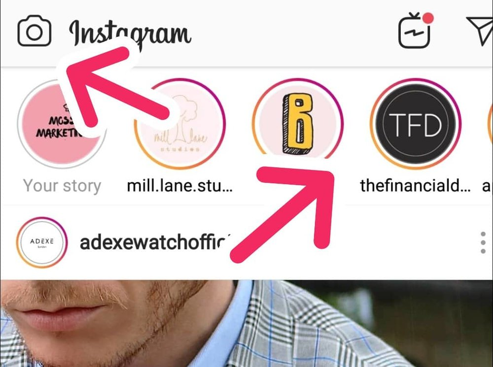 Image: Moss Marketing Where to Upload Instagram Stories.