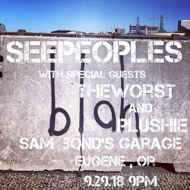 Tonight! Catch us @sambondsgarage , we're theWorst ... 9pm