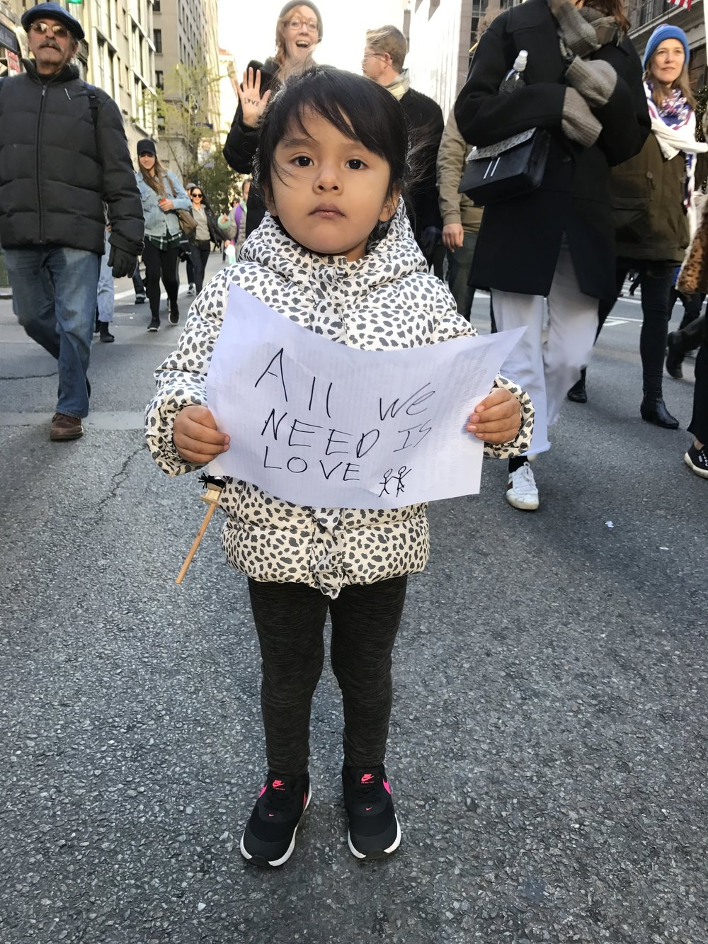 Photo by Deborah Adamy/NYC March, November 2016