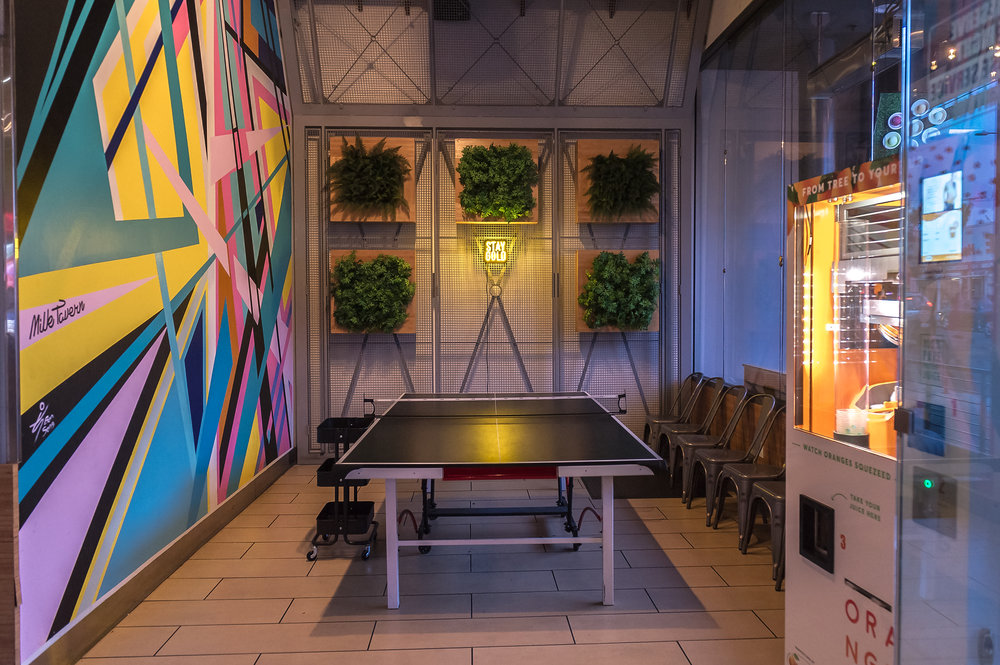 PING PONG TABLE / POP - UP AREA