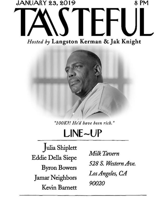 stand up comedy night @milktavern !Tasteful is back at it again Tomorrow Wednesday the 23rd @ 8PM. Drinks and sweets always ready. The line up is 🔥 so get ready for fun night! 🍺 event hosted by @langstonkerman and @jakknight123 👍 . . . . #milktavern #comedynight #events #losangelesevents #dessertlounge