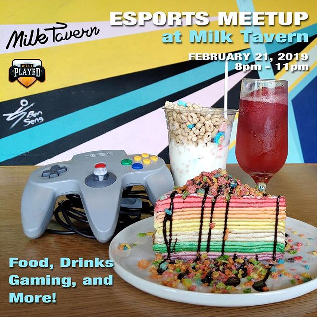 Got a sweet tooth? How about for video games? Don't worry. We've got you covered on both!  We're excited to announce that @wellplayedevent will be hosting an Esports Meetup at Milk Tavern!  Come meet and network with some of the best gamers, streamers, and Esports fans in Los Angeles! Talk about your favorite games while enjoying our Amazing Swirls and cakes or go head to head against your friend on game consoles we'll have available at the event.  Whether you're new to Esports or not, we provide a venue for friendly and inclusive groups to talk about anything and everything video game and Esports-related!