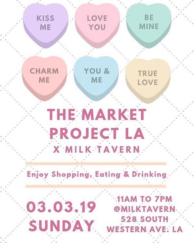 We are so excited for this exciting collaboration with these beautiful local brands/sellers 💕 come on over 3/3 Sunday 11am - 7pm and shop with these amazing 10 local brands/sellers from @themarketprojectla 😍 Extraordinary brunch, desserts and drinks will be served throughout the event from @eggtuck and @milktavern 🍳🥪☕️🍹🥂🍰 . . . . #shoplocal #collaboration #themarketprojectla #milktavern #eggtuck #kpopfoods #koreatown #losangeles #fleamarket #event