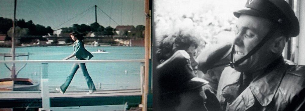 """Po lewej kadr z projektu """"Majka from the Movie"""" Zuzanny Janin, po prawej kadr z filmu """"Jeden dzień w PRL"""" Macieja Drygasa"""