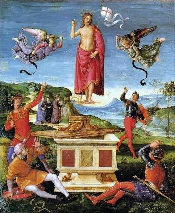 The Resurrection of Jesus Christ  by Rafael ( Wikipedia )