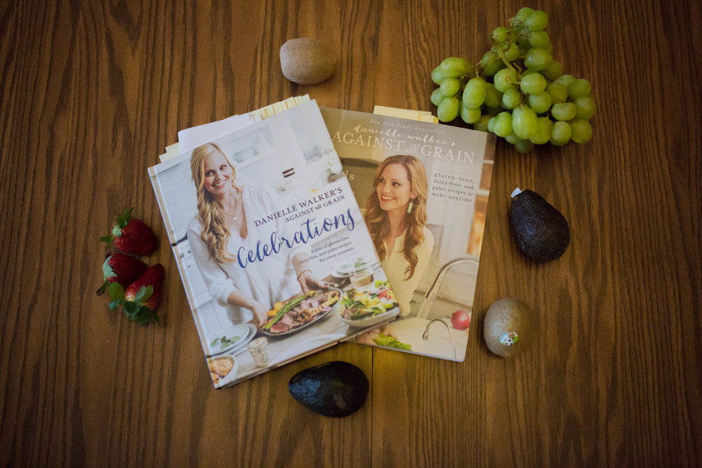 Danielle Walker's  Against All Grain  cookbooks are my fav! So easy and so many favorites, as you can tell with my bookmarks. Her Celebrations cookbook gives every holiday an easy, healthy option.