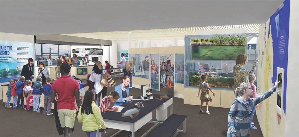 The forthcoming RiverAlive! exhibit at the Independence Seaport Museum. Hands On! Studio and Blue Cadet are project partners, with funding from the William Penn Foundation.