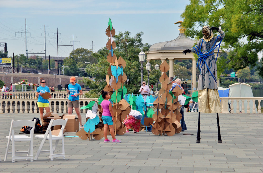 FLOW Festival at the Fairmount Water Works, where eleven different artists contributed interactive installations and performances celebrating the properties of water.