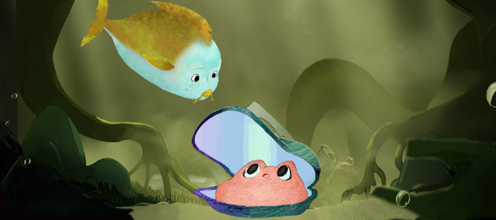 """Mussels in the Wild,"" an animated film and storybook on the lifecycle of freshwater mussels. Illustrations by Magnopus for the Fairmount Water Works, with support from PEW Arts and Heritage."