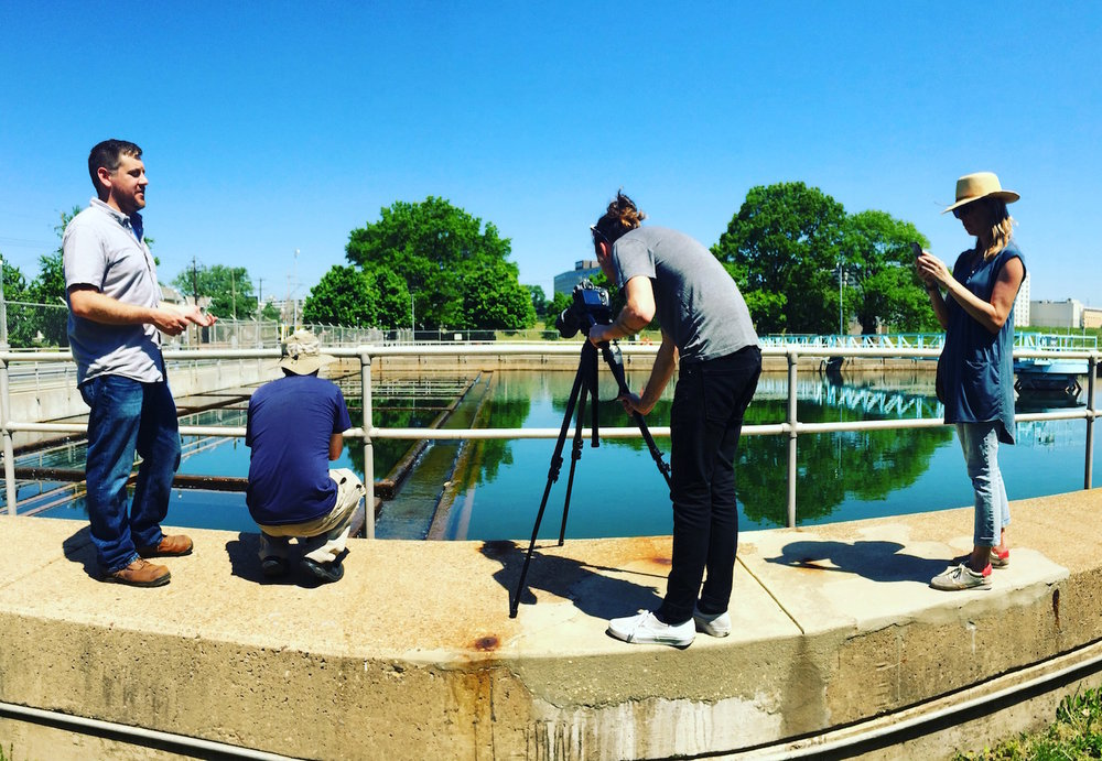 Capturing phases of the urban water use cycle with Urban Video Productions for the Fairmount Water Works.