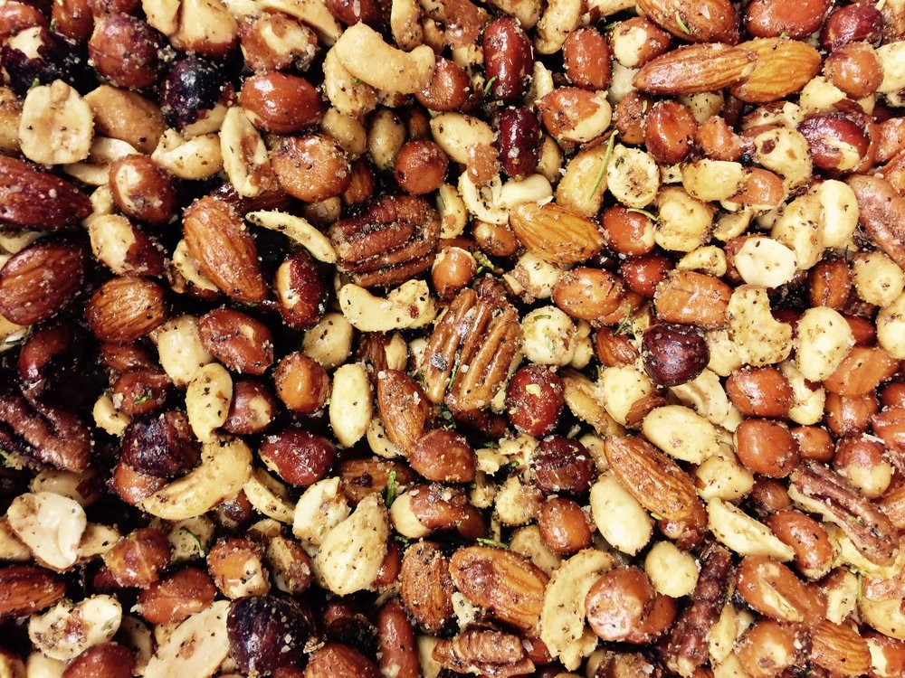 Small batch artisan nuts full of Super Spices: Cayenne, Cumin and Rosemary - ~ The perfect pairing for the Northern California lifestyle ~