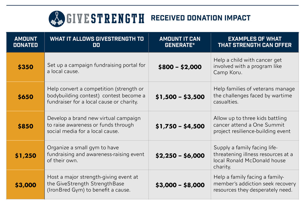 Click to enlarge and see the impact your contributions can make!