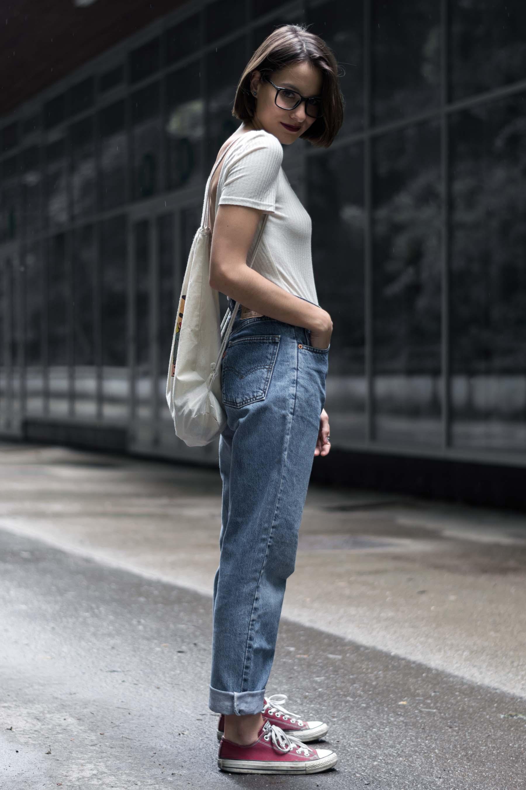 vintage levis, bodysuit