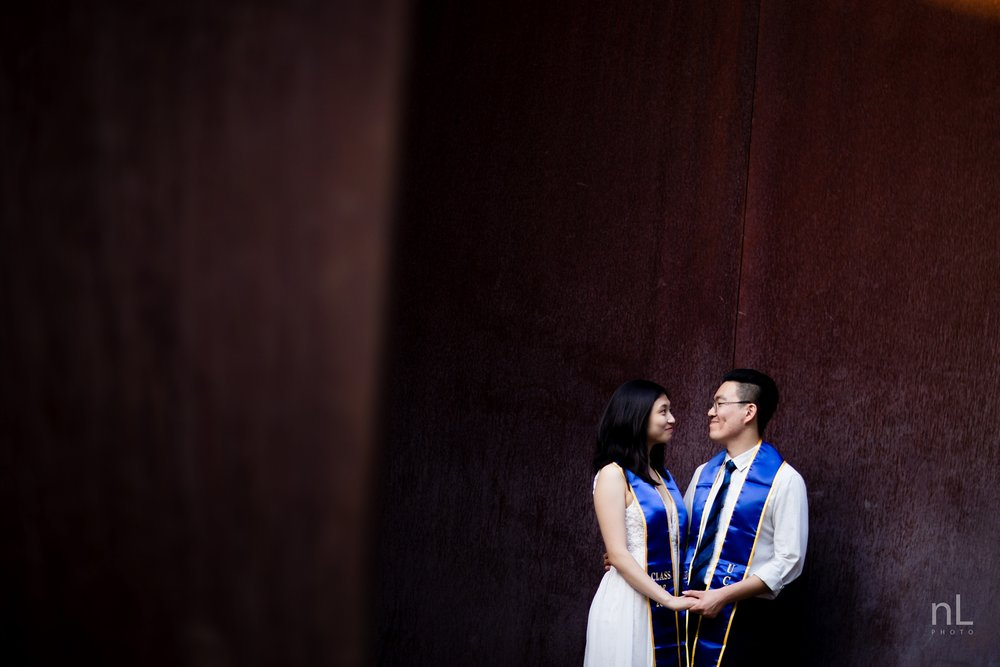 los angeles ucla senior graduation portrait cute couple holding hands