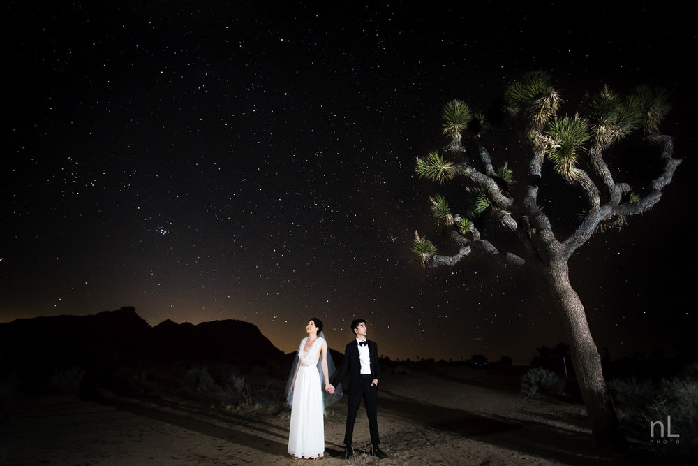 joshua-tree-engagement-wedding-elopement-photography-stylized-photoshoot-epic-environmental-portrait-bride-and-groom-astrophotography