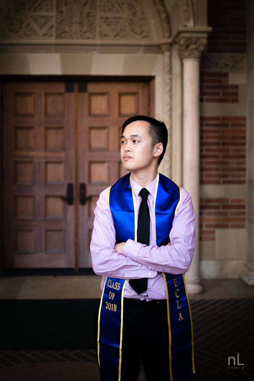 los-angeles-ucla-senior-graduation-portraits-royce-hall-doors-sash