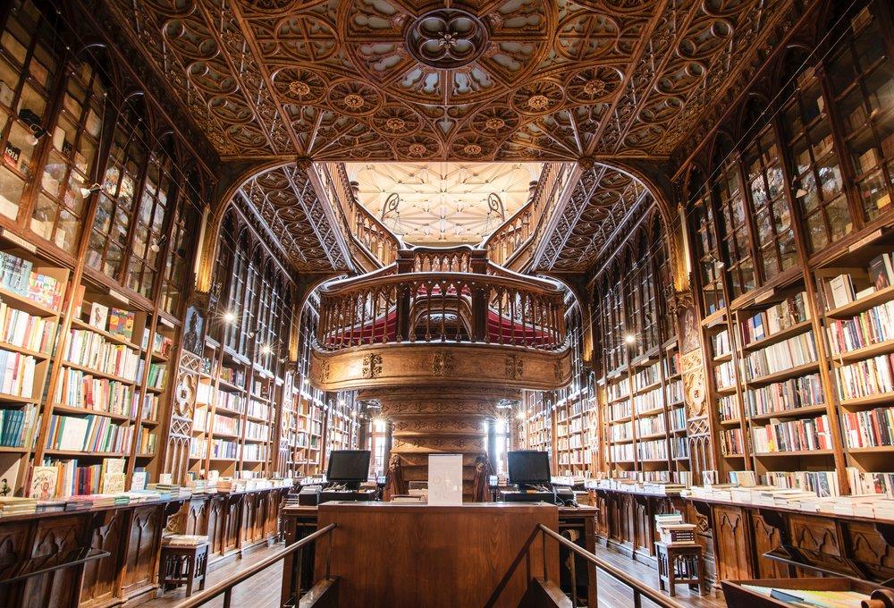 Interior view of Livraria Lello. Image by Ivo Rainha.