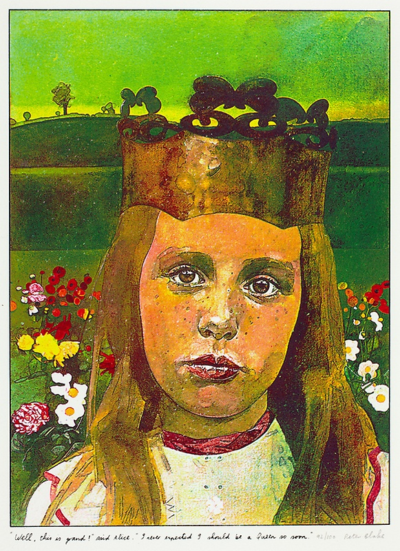 """ Well this is grand!"" said Alice  by Sir Peter Blake"