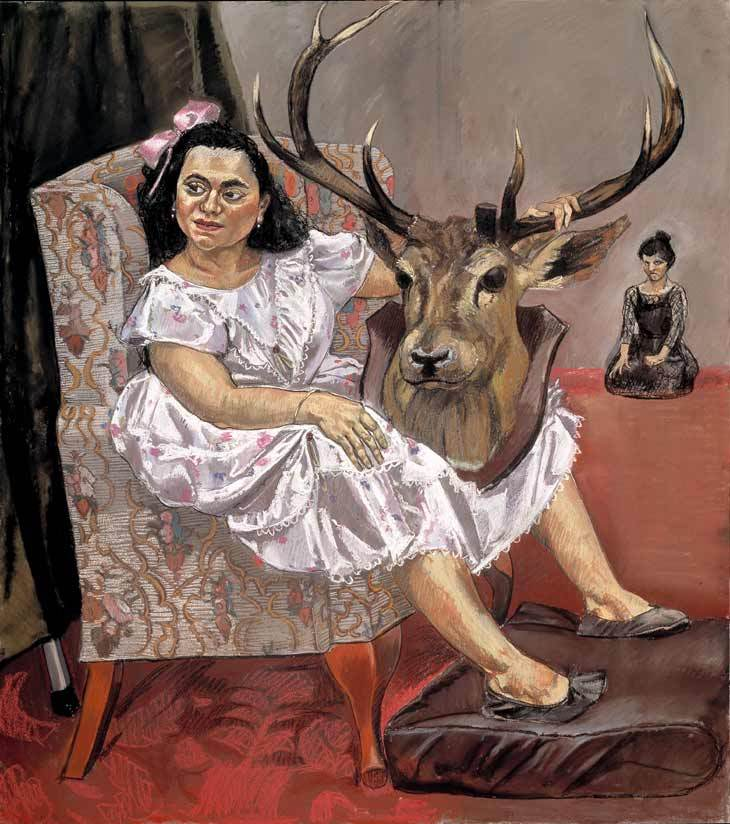 Snow White Playing With Her Father's Trophies  by Paula Rego