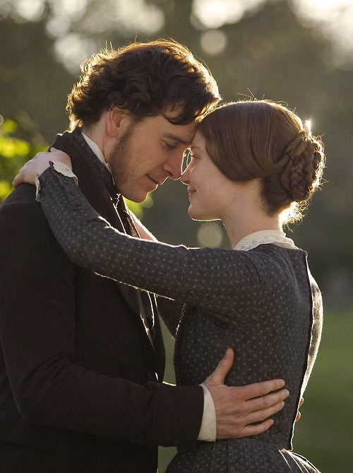 Michael Fassbender as Mr. Rochester and Mia Wasikowska as Jane Eyre