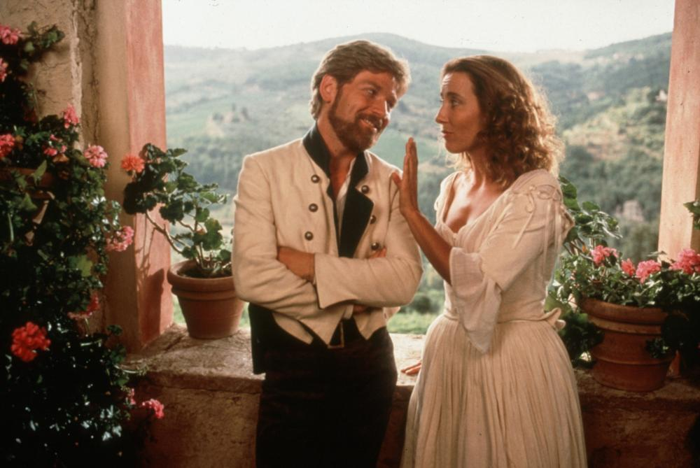 Kenneth Branagh as Benedick and Emma Thompson as Beatrice