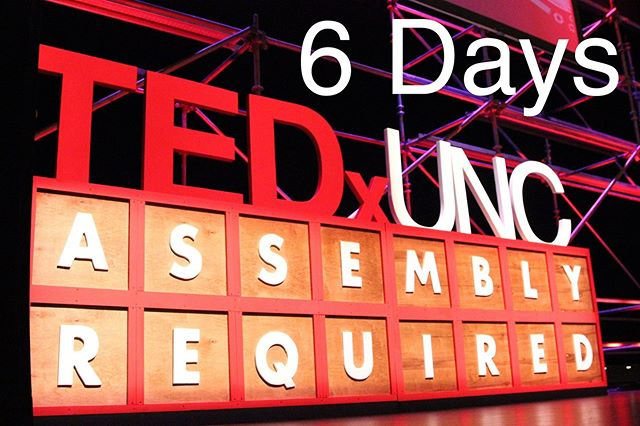 6 DAYS until the 2019 TEDxUNC Conference theme is released in the Pit (11am-1pm)! Here's a feature of the 2015 Conference - Assembly Required