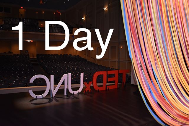 1 DAY until the TEDxUNC 2019 conference theme is released in the Pit!  See us tomorrow from 11am to 1pm for interactive activities & the first look at the theme!  This picture is from our 2018 Conference - Colorwheel