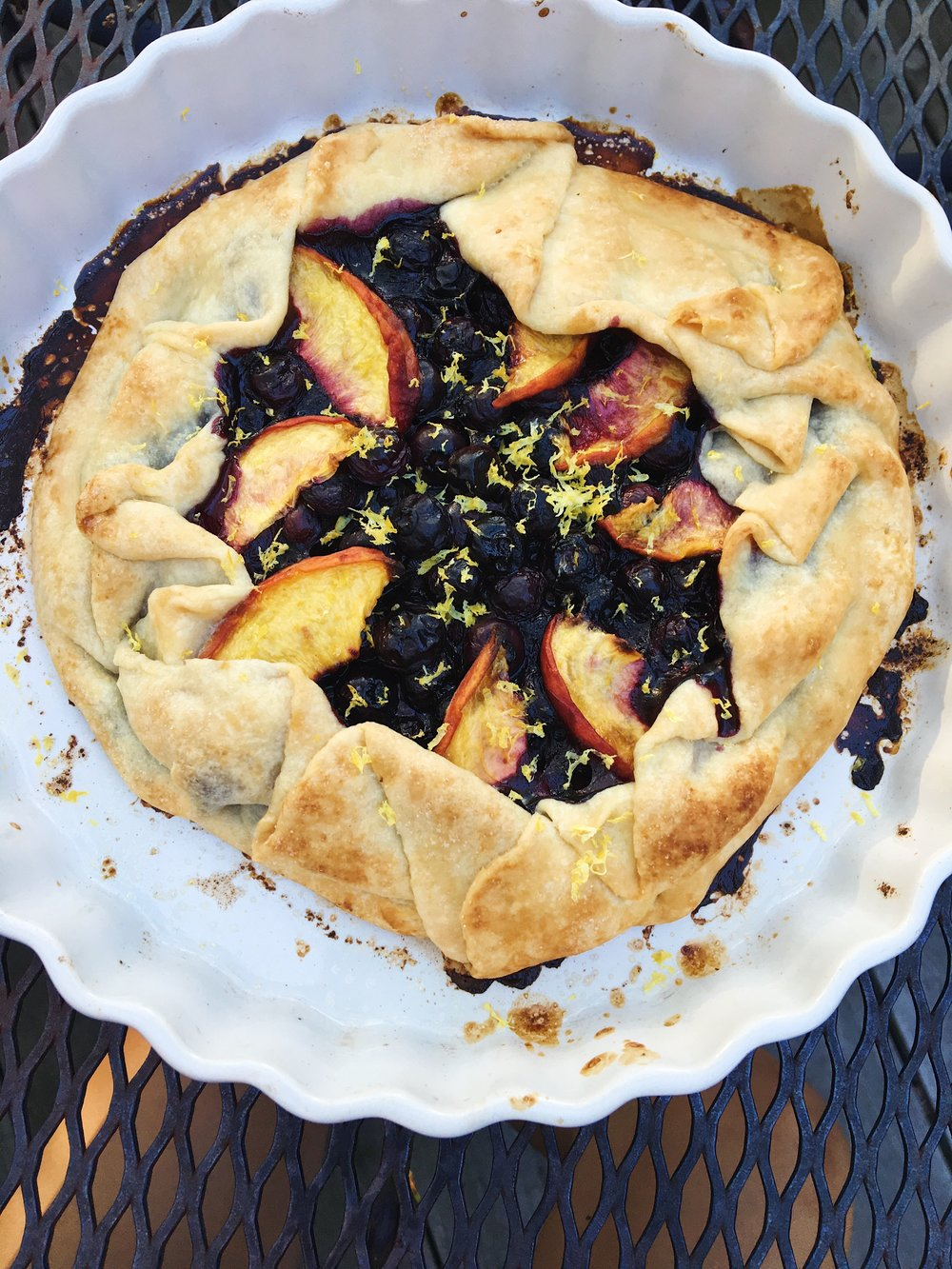 Blueberry Peach Galette- Homemade