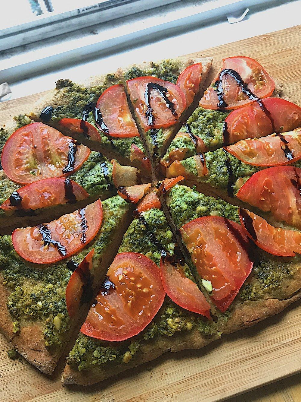Vegan Pizza- Homemade