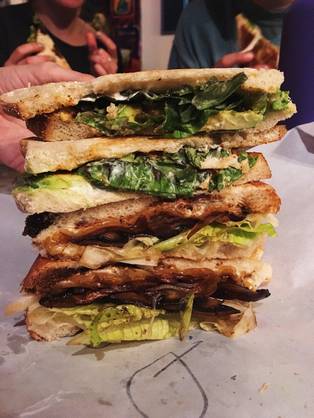 Jamaican Avocado and Roman Portobello Sandwiches- Four Corners of the Earth