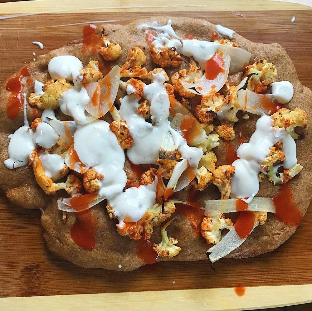 Buff Cauli ZA on Spelt Flour Crust